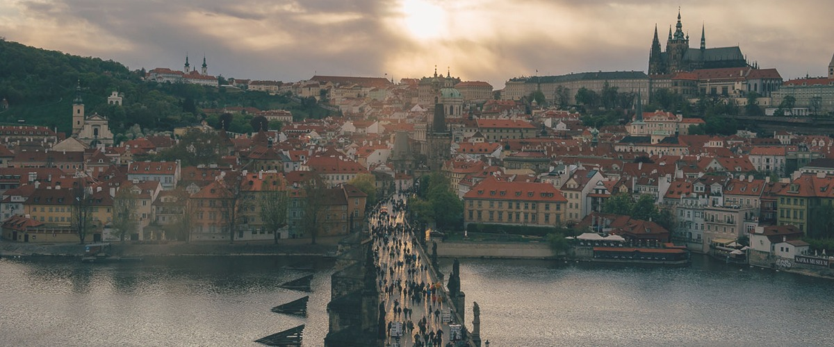 charles bridge and praguecastle