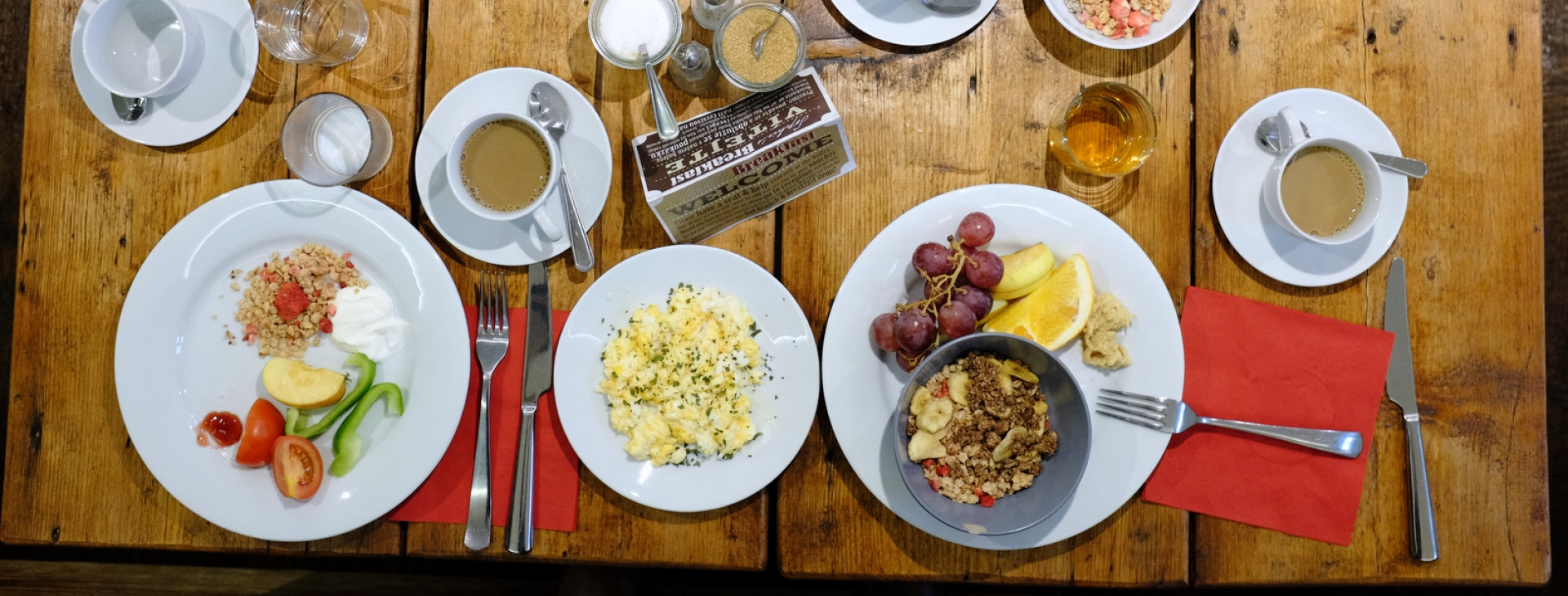 Sophie's hostel breakfast